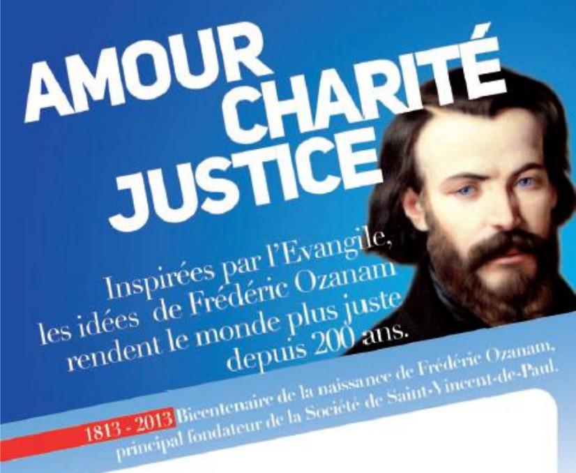 Les Gloires de la France chrétienne au 19 eme - Frederic Ozanam ( Société St-Vincent de Paul) et le Colonel Paqueron Bicent-ozanam-programme-en-tete